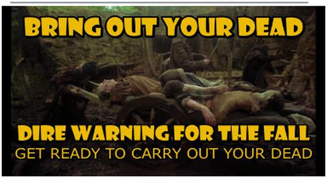 DIRE WARNING GIVEN !! BE PREPARED TO BRING OUT THE DEAD THIS FALL AS MORE SHEEP LINE UP FOR THE JAB 2-10-2021
