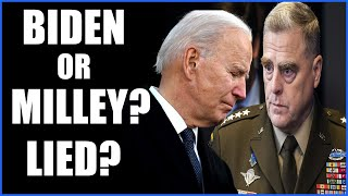EITHER BIDEN OR MILLEY LIED UNDER OATH TO THE AMERICAN PEOPLE 1-10-2021