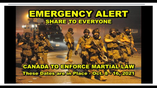 EMERGENCY BROADCAST !! MARTIAL LAW TO BE IMPLEMENTED BETWEEN OCT. 8-16 – SHARE TO EVERYONE !! 2-10-2021