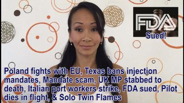 Poland fights with EU Texas bans injection mandates Mandate scam UK MP stabbed to death and more 17-10-2021