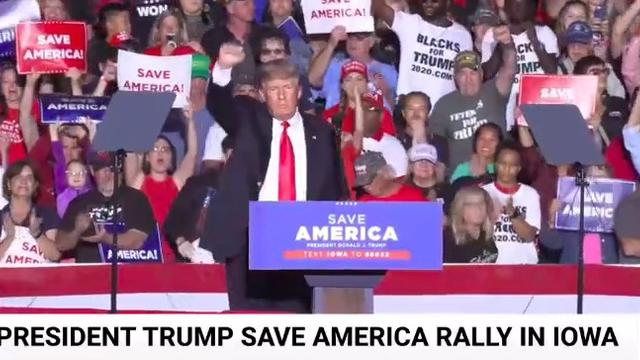 President Trump Inspires Patriots To Take Back America At MAGAA Rally In Des Moines Iowa 10-10-2021