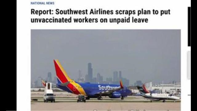 Southwest Air has now announced that it will no longer place unvaccinated employees on unpaid leave 21-10-2021