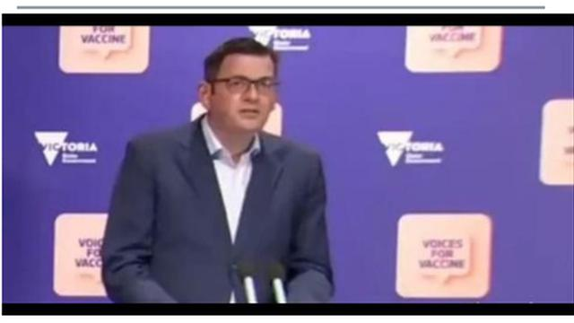 """WTF ?? DAN ANDREWS: """"IF YOU HAVEN'T HAD A VACCINE BY 15TH OF OCTOBER, YOU WILL STARVE"""" !! 4-10-2021"""